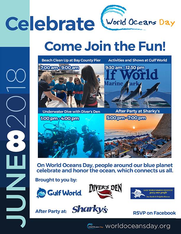 World Oceans Day - Gulf World Marine Park